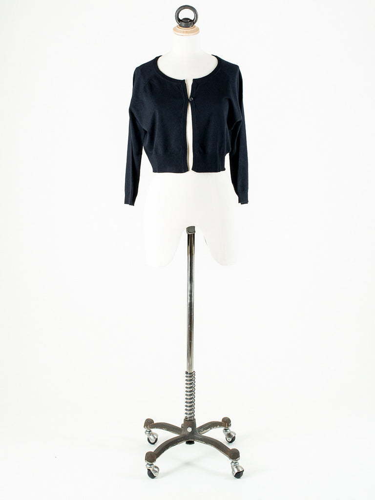 b.young Soft Knit Short Cardigan Black