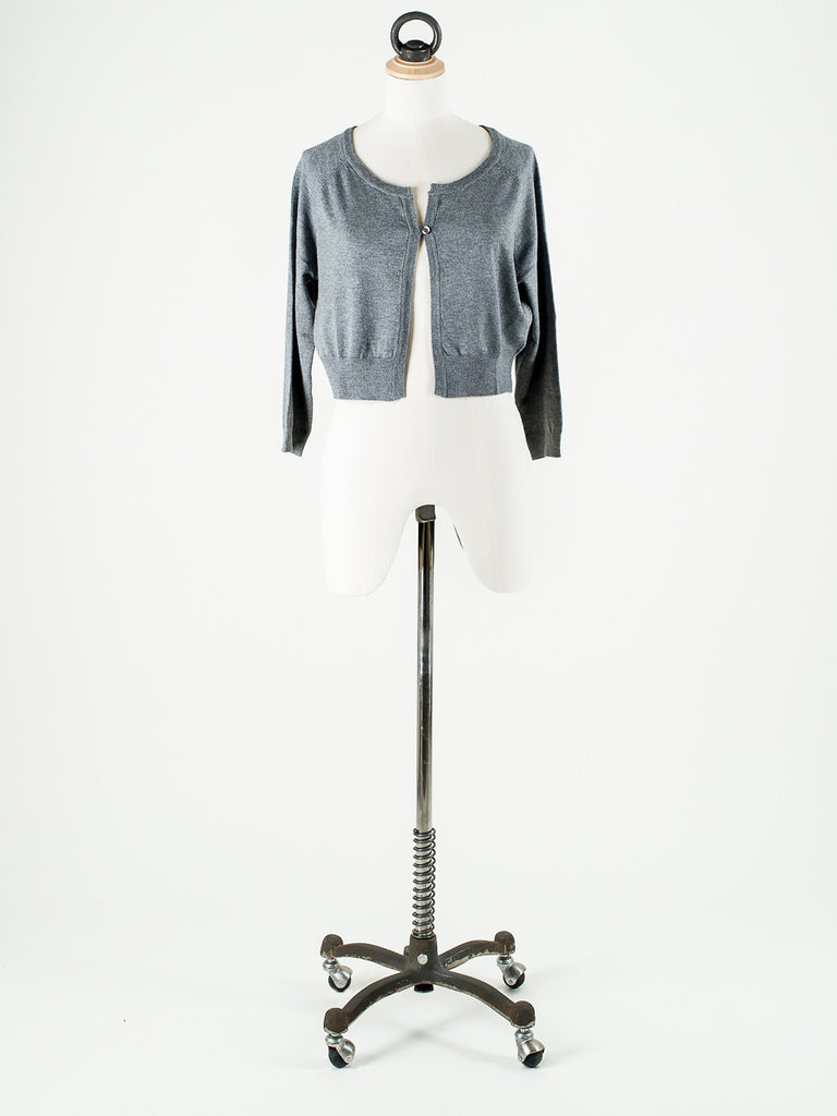 b.young Soft Knit Short Cardigan Off White