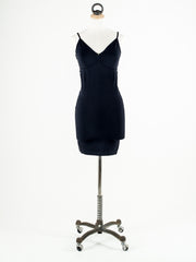 Saint Tropez Long Line Strappy Under Vest Black