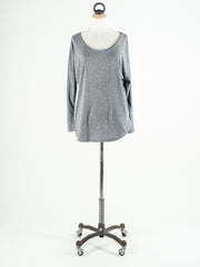 Saint Tropez Loose Fit T-Shirt with Long Sleeves Grey