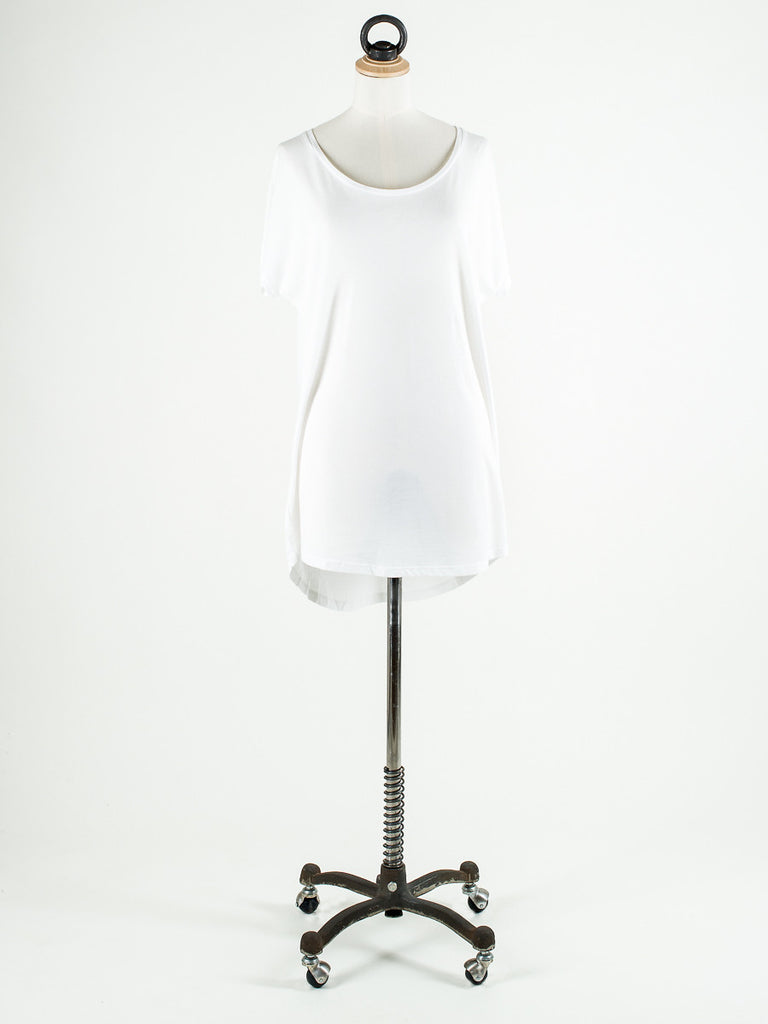 Saint Tropez Loose Fit T-Shirt with Long Sleeves White