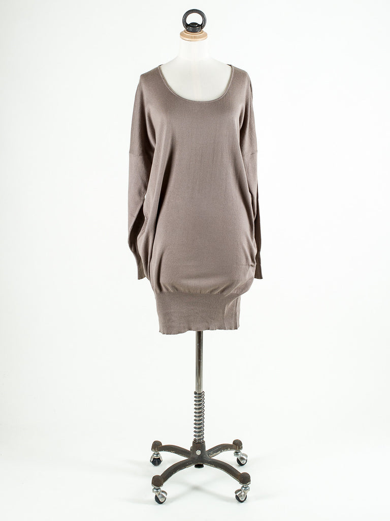 Saskia Brook Long Plain Tunic Cappaccino