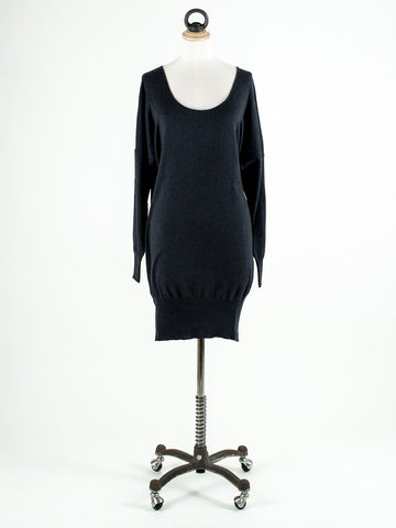 Saskia Brook Long Plain Tunic Black