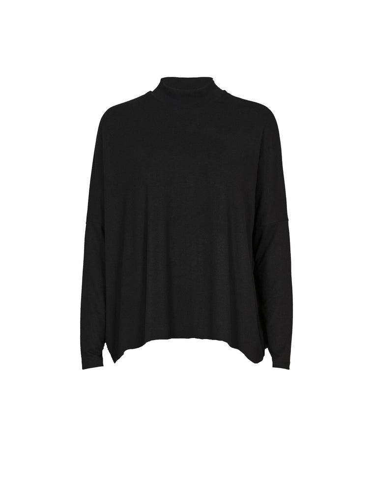 JUST FEMALE Nora Long Sleeve Top Grey/Black