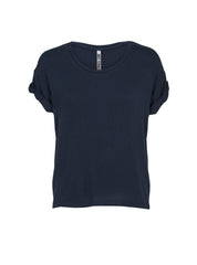 JUST FEMALE Odella T-shirt with short sleeves Navy