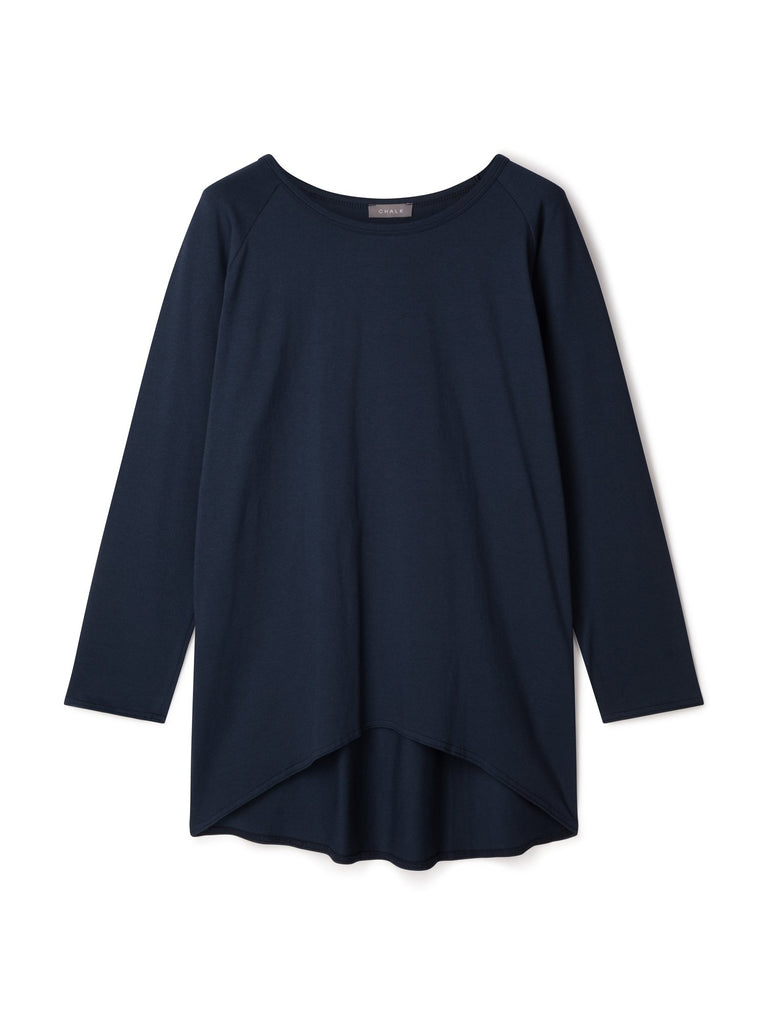 Chalk Robyn Long Sleeve Top Navy