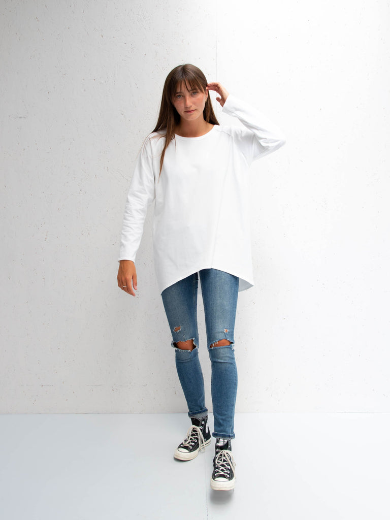 Chalk Robyn Long Sleeve Top White