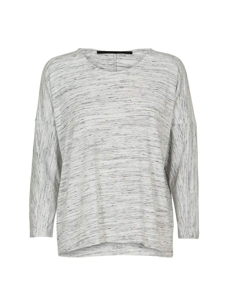 JUST FEMALE Spect Long Sleeve Top Pepper & Salt