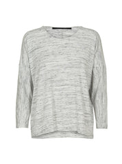 JUST FEMALE Spect Long Sleeve Top Salt & Pepper