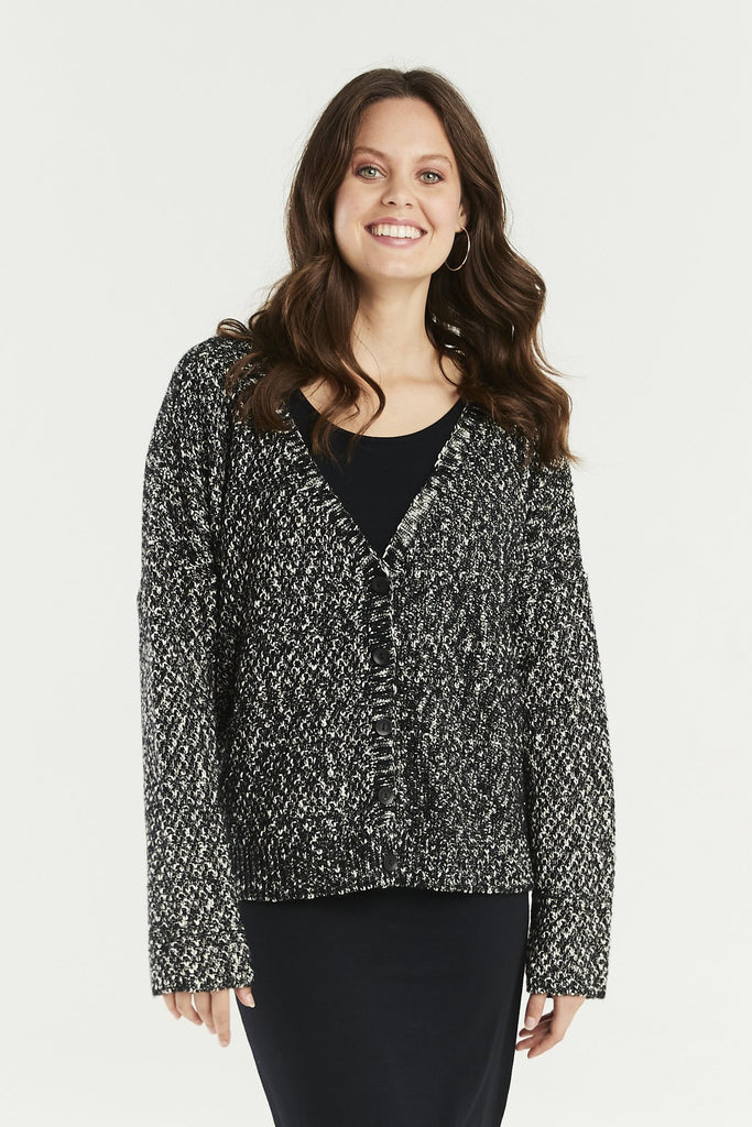 A Postcard From Brighton Trevone Cardigan Black