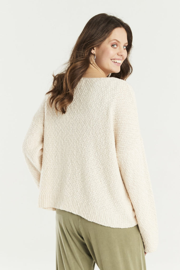 A Postcard From Brighton Trevone Cardigan Cream