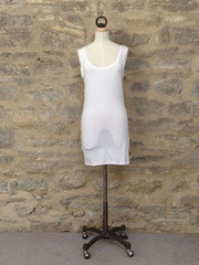 b.young Long Vest Top WHITE