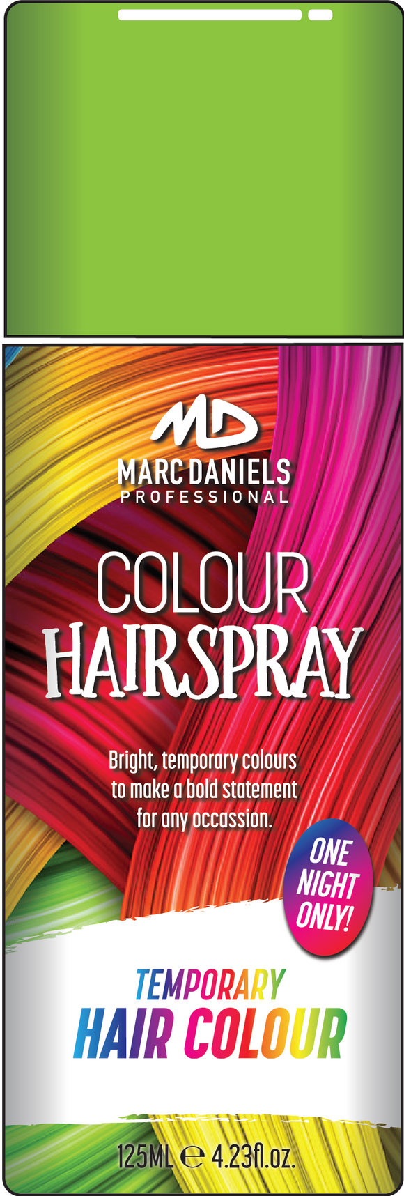 Coloured Hair Spray 125g Green