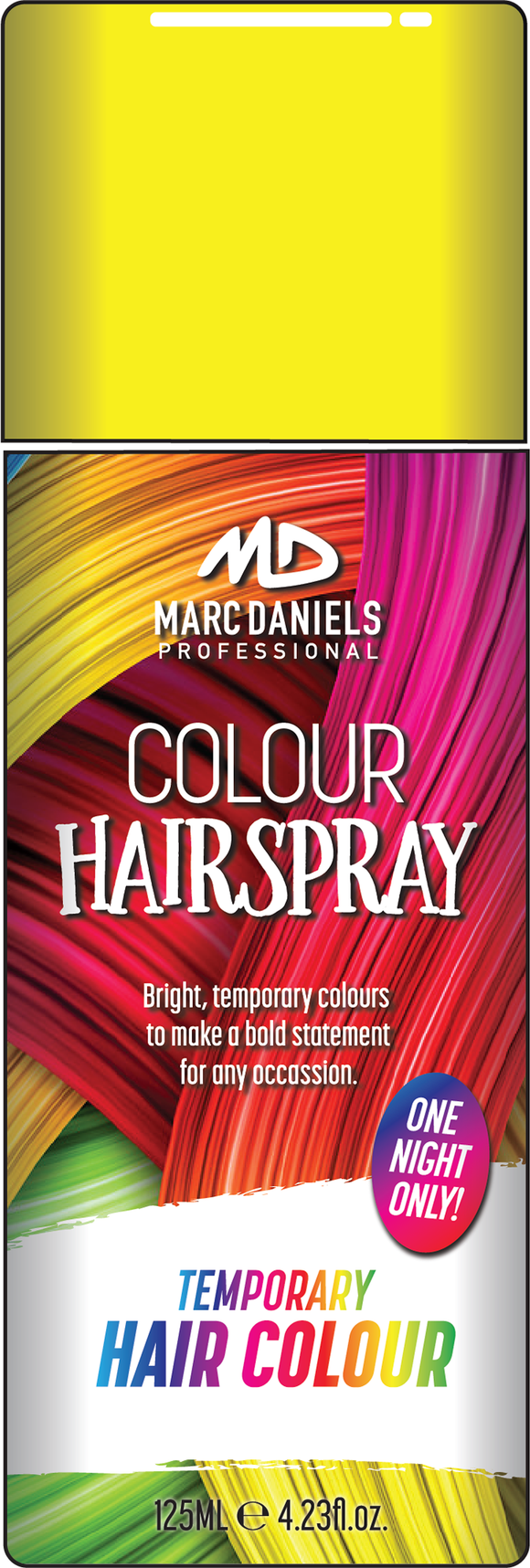 Coloured Hair Spray 125g Yellow