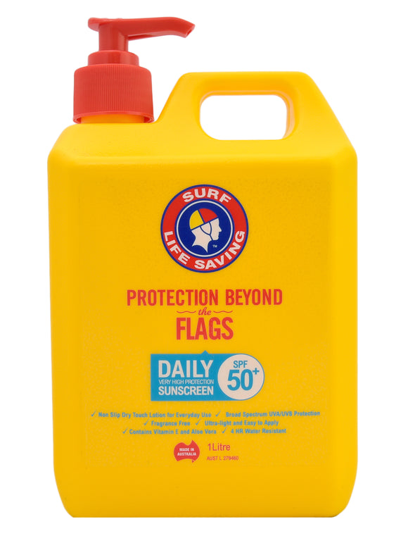 Surf Life Saving Daily Lotion 1L Pump SPF 50+