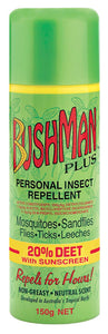 Bushmans Plus 150g Aerosol 20% Deet with SPF
