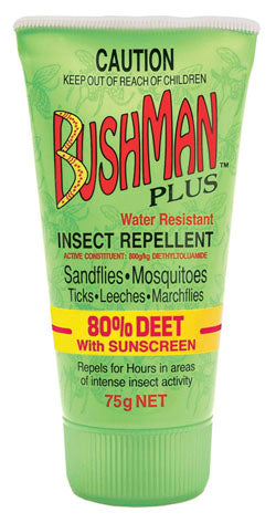 Bushmans Plus 75g Gel 80% Deet With SPF