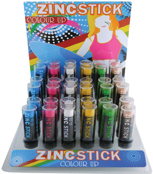 Coloured Zinc Sticks Unit 36pc