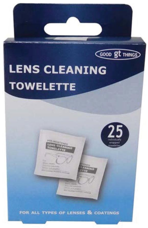 Lens Cleaning Wipes 25pk
