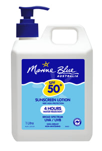 Marine Blue Dry Touch Lotion 1L Pump SPF 50+