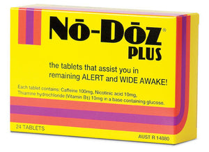 No Doz Awakeners PLUS 100mg 24 tablets