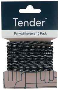 Hair Elastic Thick Black
