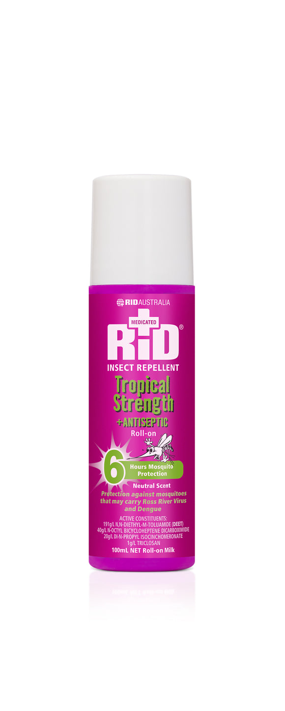 Rid Tropical Strength + Antiseptic 100ml Roll-on