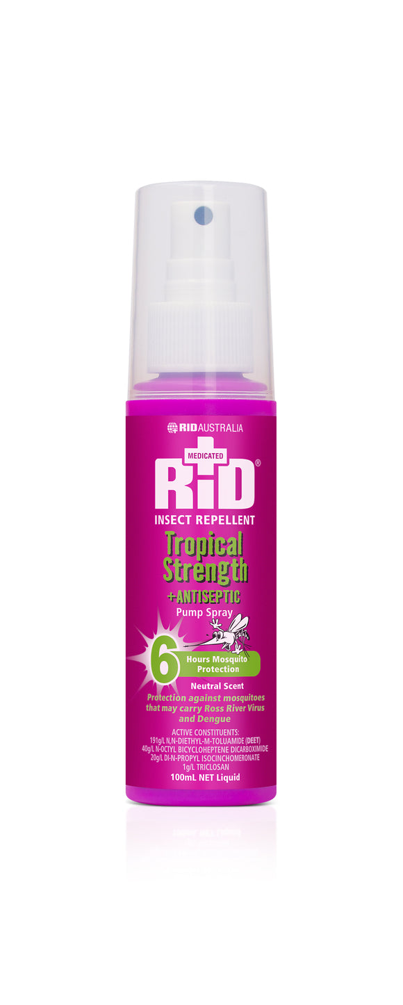 Rid Tropical Strength + Antiseptic 100ml Pump