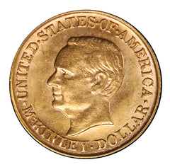 1916 $1.00 McKinley Commemorative Gold Dollar