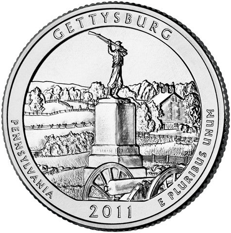 gettysburg glacier olympic vicksburg chickasaw 2011 uncirculated national park quarters