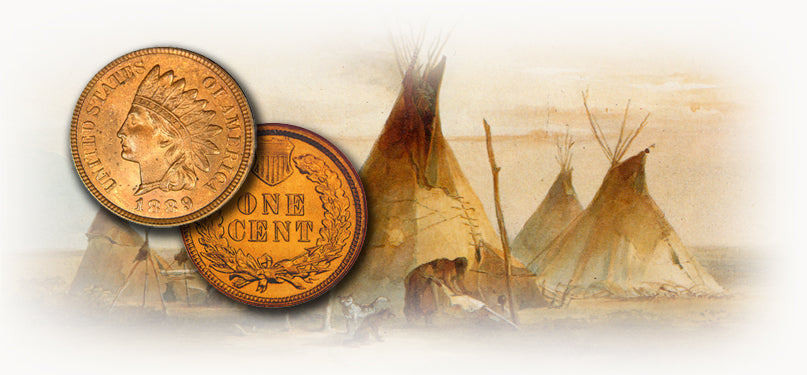 Flying eagle cents and Indian head Cents