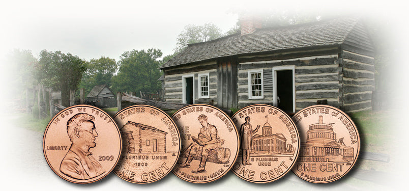 2009 Lincoln Bicentennial Cents Collection in Display