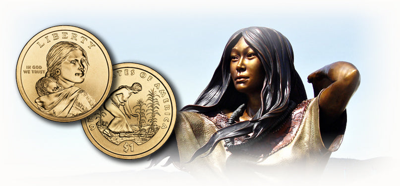 Sacagawea and native american dollars