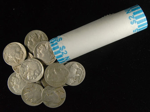 Buffalo Nickel Rolls . . . . 40 Coins Good/VG