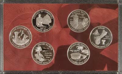 2009-S Silver Territories Quarter 6-coin Proof Set