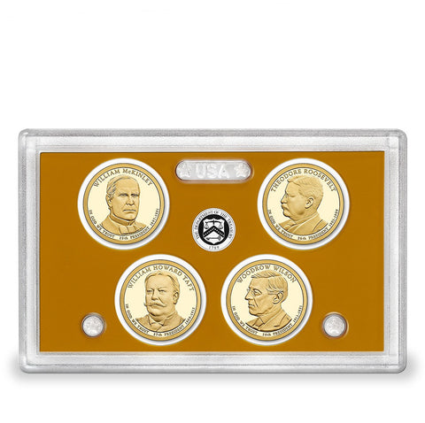 2013-S Presidential Dollar 4-coin Proof Set