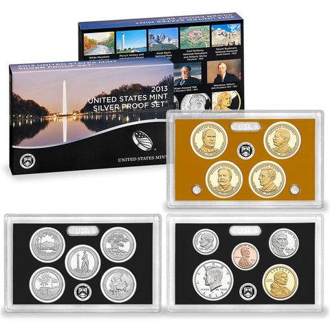 2013-S Silver Proof Set . . . . Gem Brilliant Proof