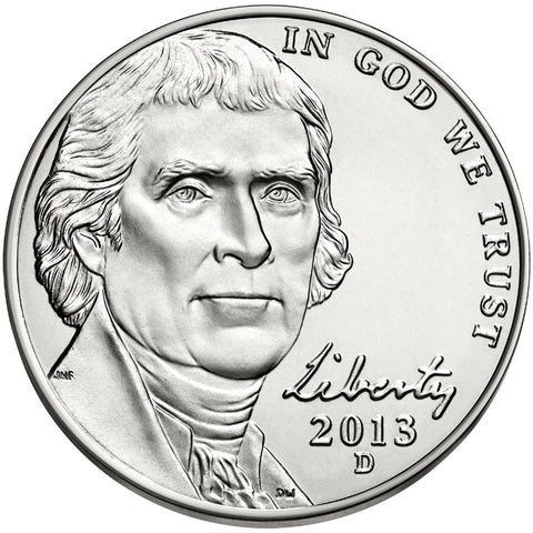 2013-D Jefferson Nickel . . . . Brilliant Uncirculated