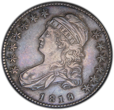 1819 Small 9/8 Bust Half <br>Choice About Uncirculated