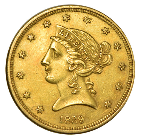 1839 $5.00 Liberty Gold <br>Choice About Uncirculated