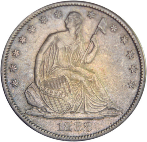 1868-S Seated Liberty Half <br>Choice Brilliant Uncirculated