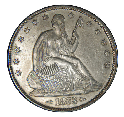 1873 Arrows Seated Liberty Half