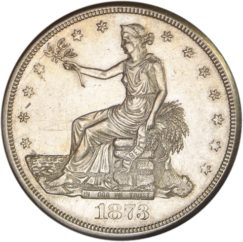 1873-CC Trade Dollar <br>Choice About Uncirculated