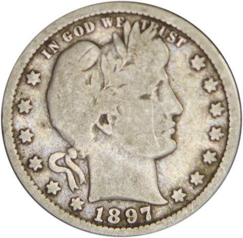 1897-S Barber Quarter <br>Fine/VF