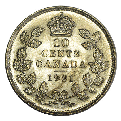 1921 Canadian Dime <br>Choice Brilliant Uncirculated