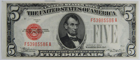 $5.00 1928 C United States Note