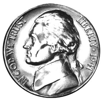 1941-S Jefferson Nickel