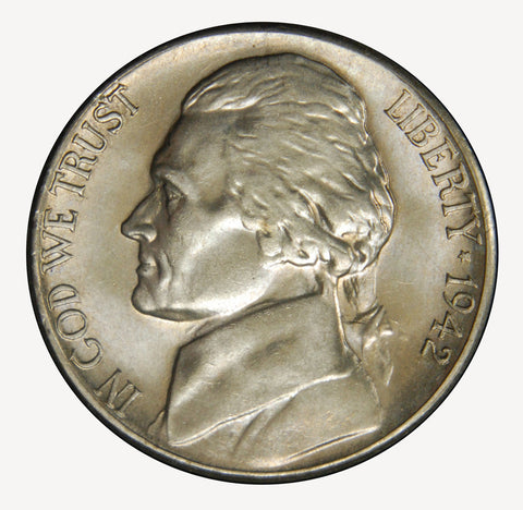 1942-S Silver Jefferson Nickel