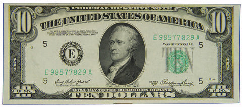$10.00 1950 A Federal Reserve Note