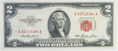 $2.00 1953 United States Note